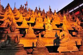 Sunset Among the Buddhas