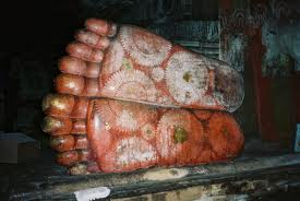 The Feet of Buddha at Dambulla
