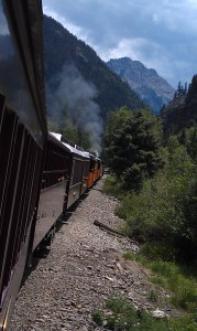 Railbed is at the Edge of Deep Canyons