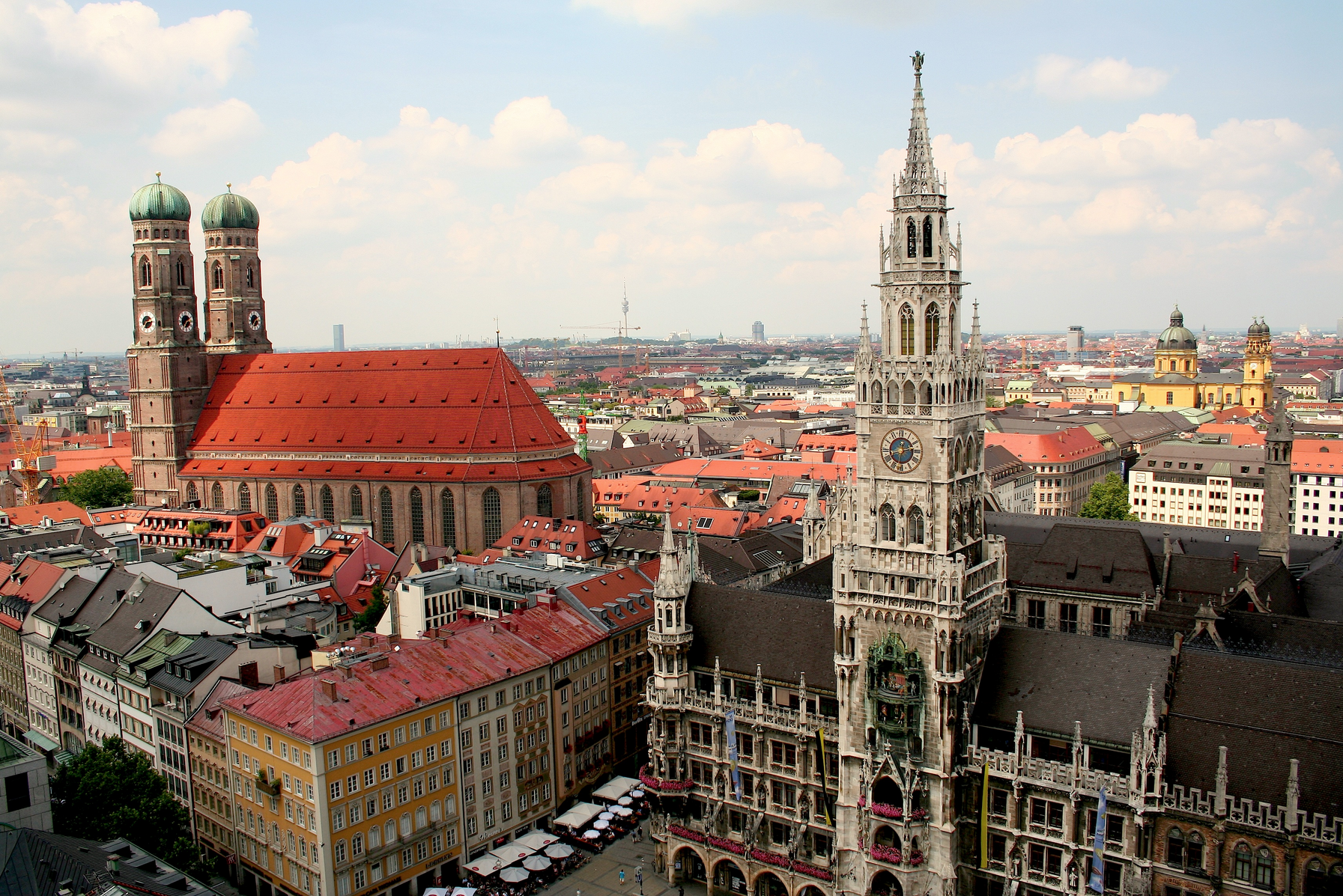Munich Skyline at Marienplatz